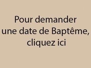 Demande baptême